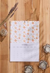 Watercolor Botanical Calendar