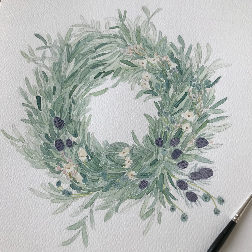 Clementine Triot illustration watercolor wreath