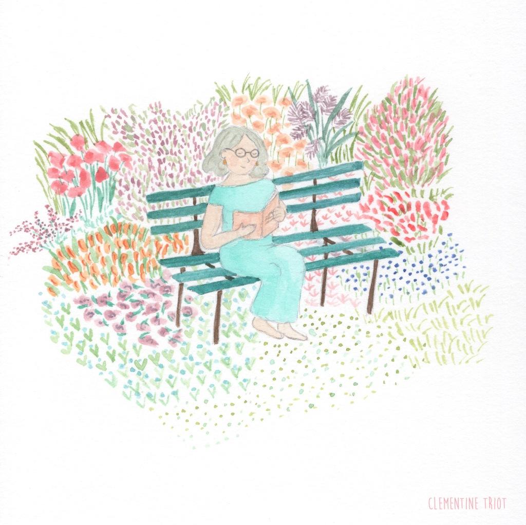 Clementine Triot illustration watercolor flowers garden